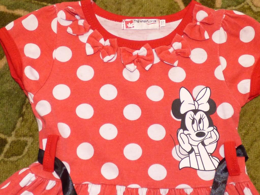 012ab94941 Minnie Egeres ruha 110-es Eladó a képen látható Minni Egeres csini kislány  ruha.