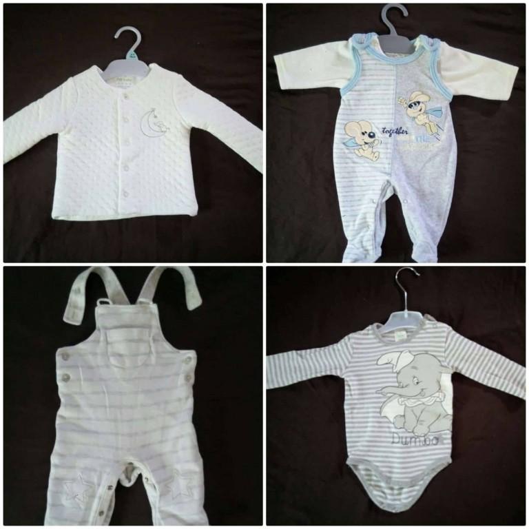 Új márkás 13db-os szett kisfiú ruhacsomag eladó 0-6hó! A ruhák újonnan 5e4ffff3e7