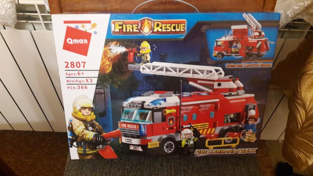 Lego kompatibilis, Tűzoltó parancsnoki teherautó, eredeti dobozos, új. Személyes átvétel mellett tudom postázni ill. Foxpost-tal küldeni. Mindkét esetben működik az utánvétel is. - 0