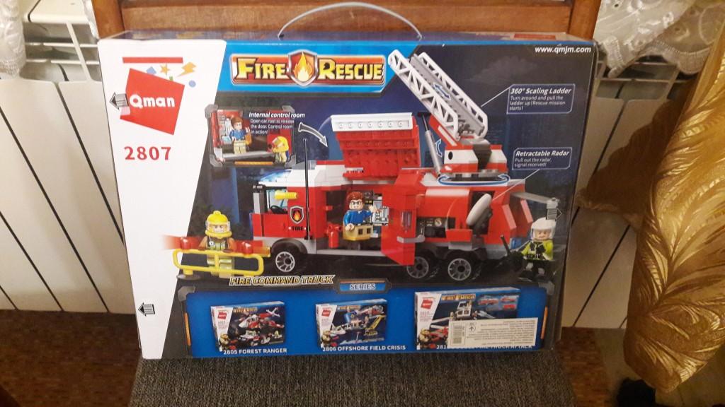 Lego kompatibilis, Tűzoltó parancsnoki teherautó, eredeti dobozos, új. Személyes átvétel mellett tudom postázni ill. Foxpost-tal küldeni. Mindkét esetben működik az utánvétel is. - 1