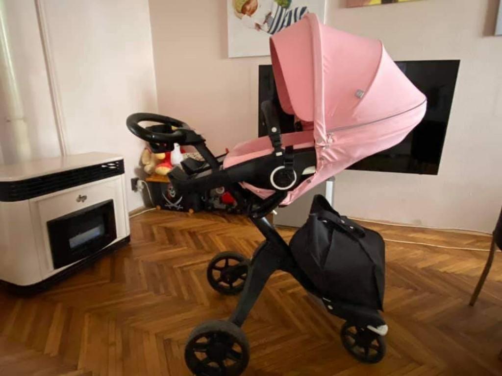Stokke Xplory V6 rózsaszín sport üléssel,xxl kupolával,szúnyoghálóval, alsótáskával,pohátartóval, esővédővel, s az egyszer sem használt napernyővel együtt.  Garanciás , 2022 agusztusig Ár: 250 000ft - 0