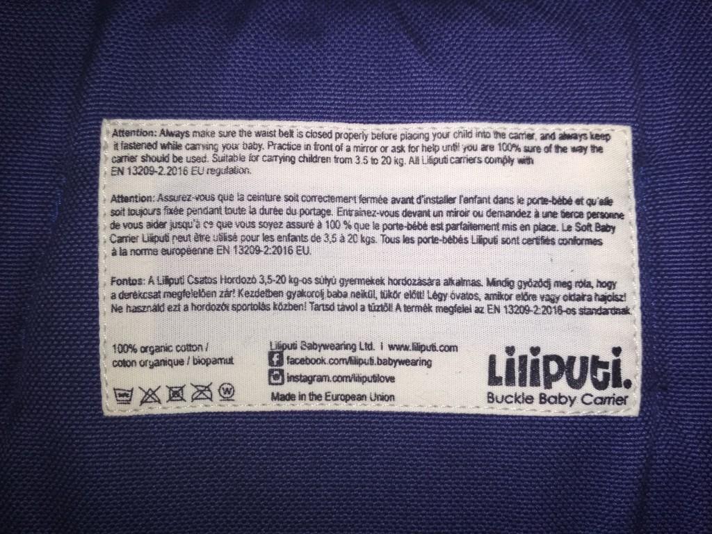 Liliputi csatos hordozó eladó  Elöl, háton és csípőn hordozáshoz, egyaránt, 3,5-20 kg-os hordozási súlyhoz(kb. 6 hetestől 3 éves korig)ajánlott.  Az ár minimálisan alkuképes! - 3