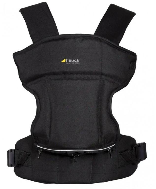HAUCK 3-Way Carrier Black kenguru babahordozó Háromféleképp használható  Kényelmesen párnázott  Előkéje levehető, mosható  Állítható ülés szélesség  Könnyen felszerelhető - 3