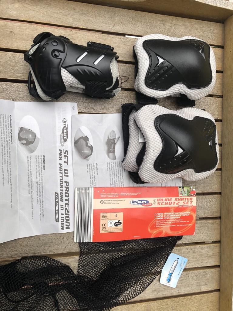 Sosem használt Hy Skate Junior S-es könyök-térd-tenyér védőszett eladó. Eredeti csomagolásban, használati útmutatóval. - 0